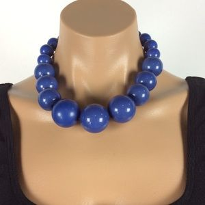 New Large Bead Blue Necklace